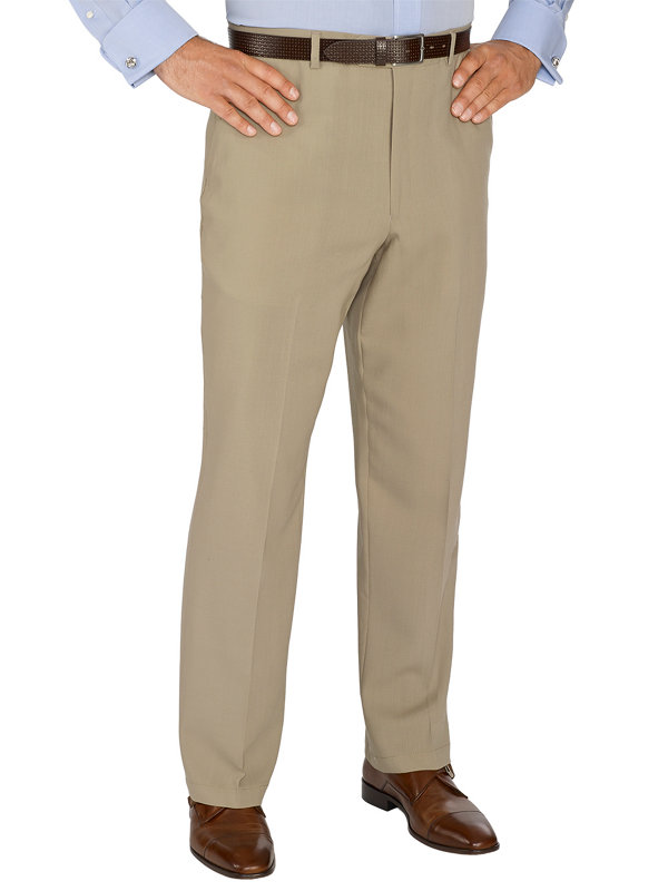 Wool Flat Front Suit Pants