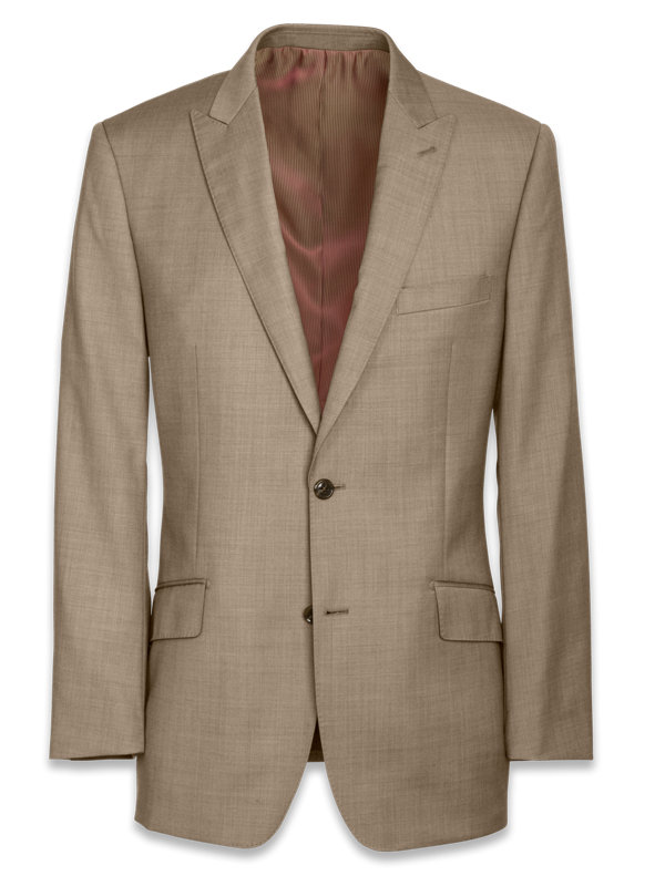 Classic Fit Sharkskin Peak Lapel Suit Jacket