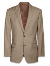 Super 120's Sharkskin Peak Lapel Suit Jacket