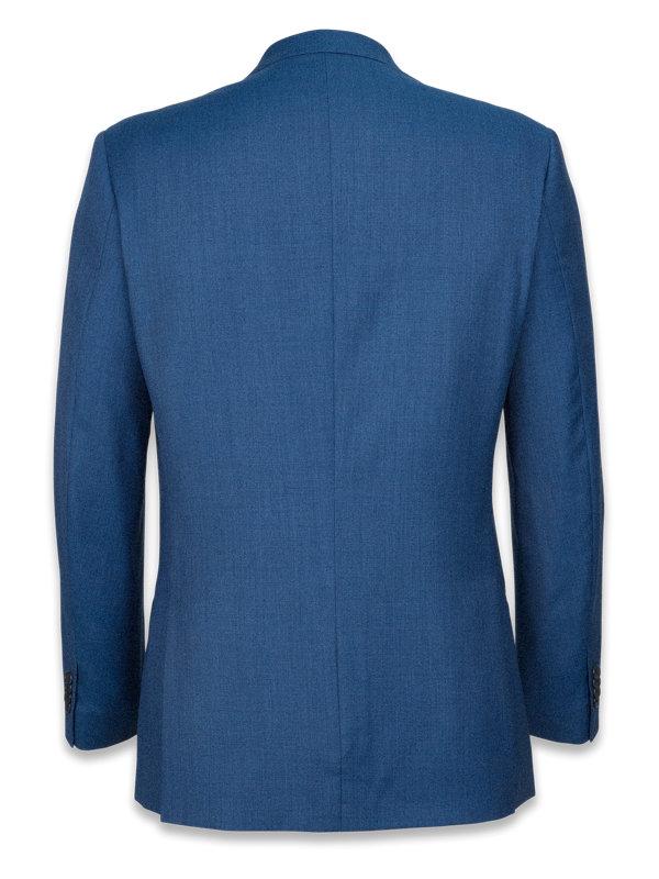 Classic Fit Super 120's Sharkskin Peak Lapel Suit Jacket