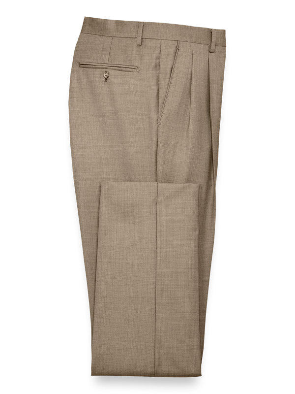 Classic Fit Sharkskin Pleated Suit Pant