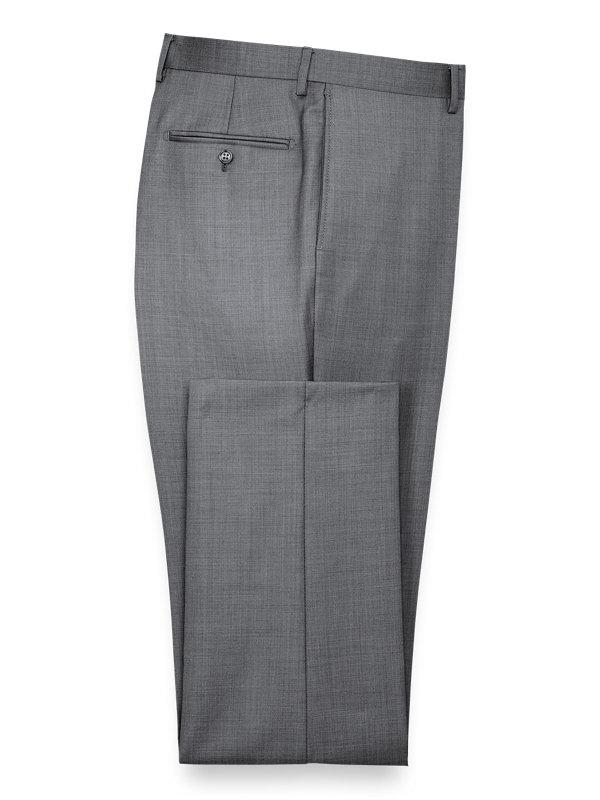 Classic Fit Sharkskin Flat Front Suit Pant