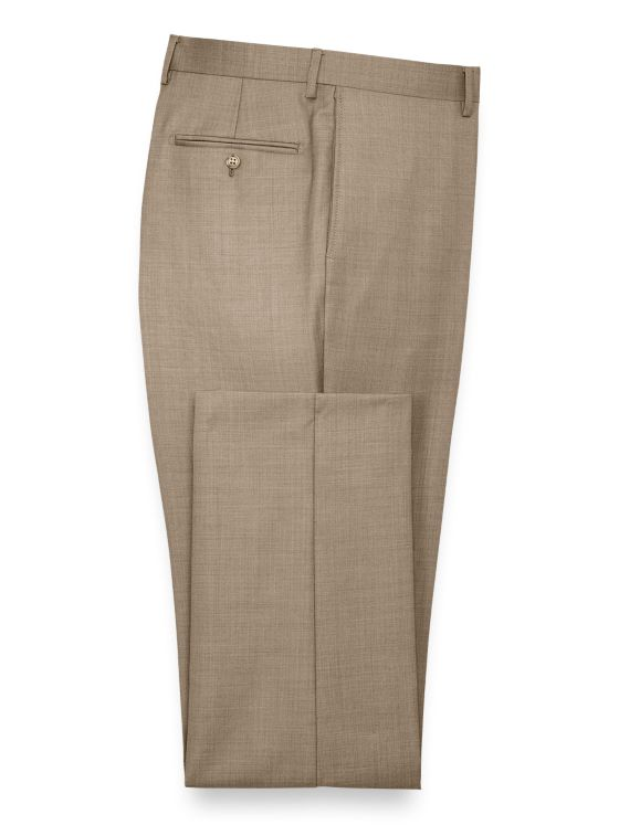 Super 120's Sharkskin Flat Front Suit Pants