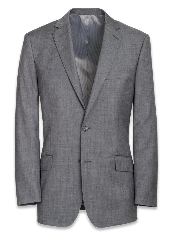 Classic Fit Sharkskin Notch Lapel Suit Jacket