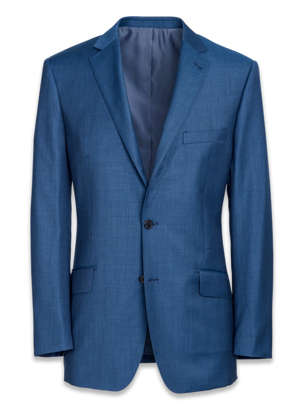 Classic Fit Super 120's Sharkskin Notch Lapel Suit Jacket