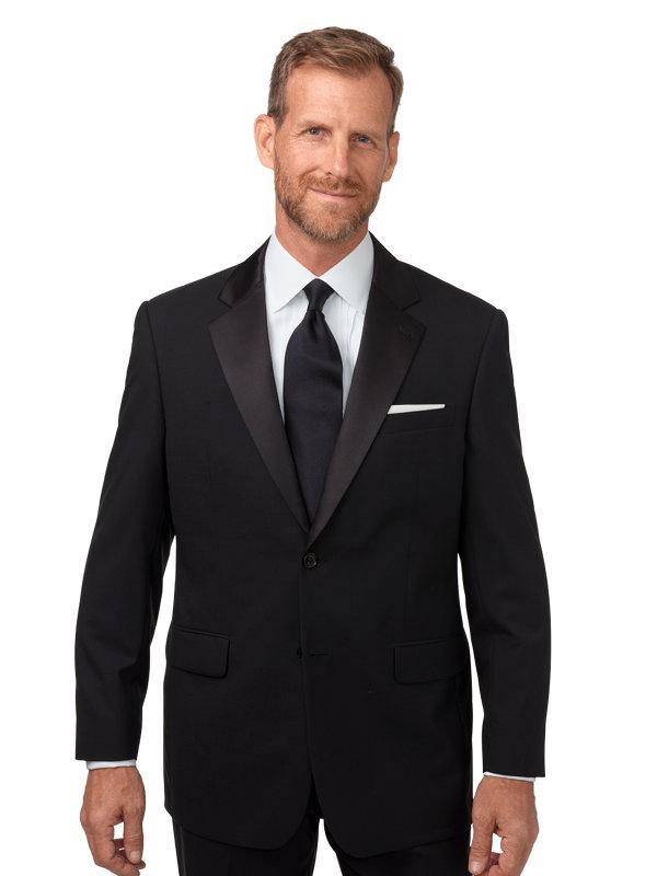 Classic Fit Wool Solid Satin Lapel Tuxedo Jacket