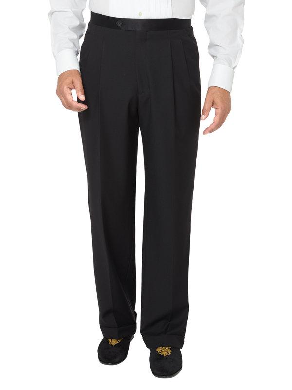 Super 100's Pleated Tuxedo Pant