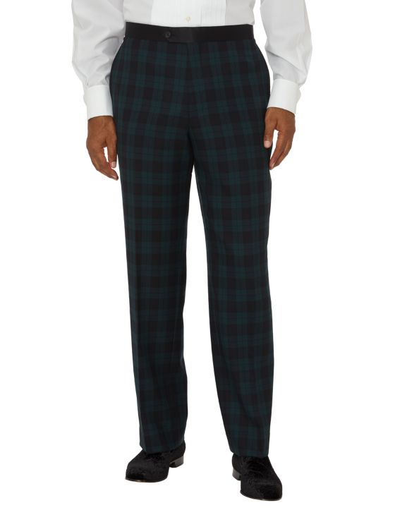 Super 100's Flat Front Tuxedo Pant