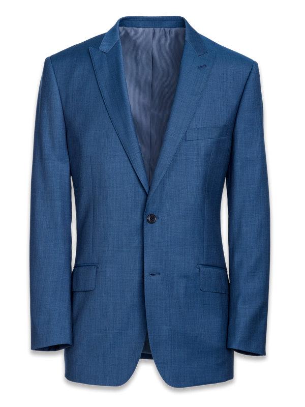 Tailored FIt Sharkskin Peak Lapel Suit Jacket