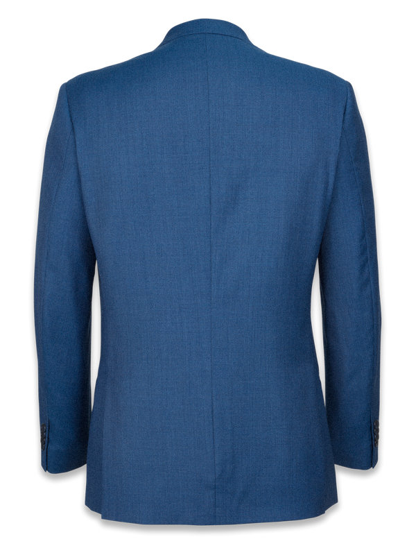 Tailored Fit Super 120's Sharkskin Peak Lapel Suit Jacket