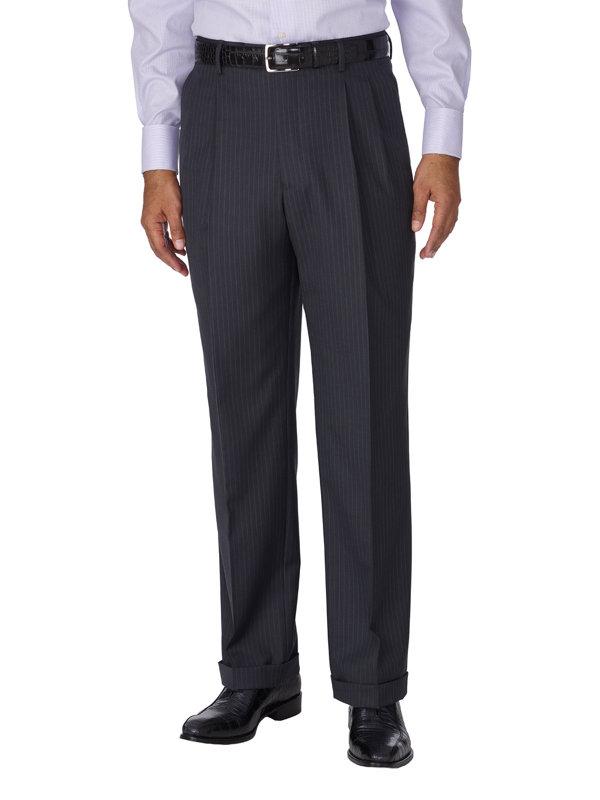Wool & Silk Stripe Suit Separate Pant