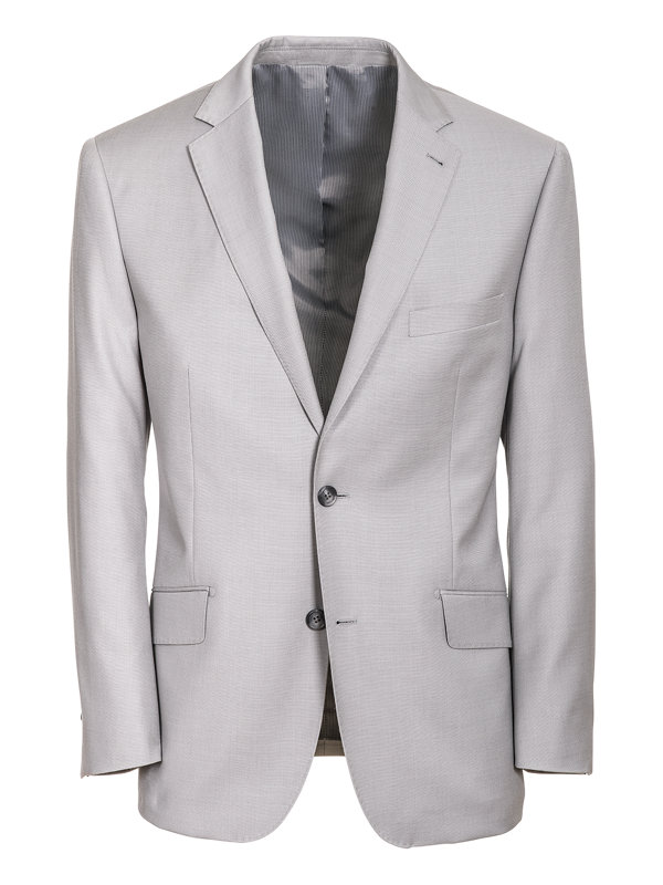 Classic Fit Sharkskin Notch Lapel Suit Jacket