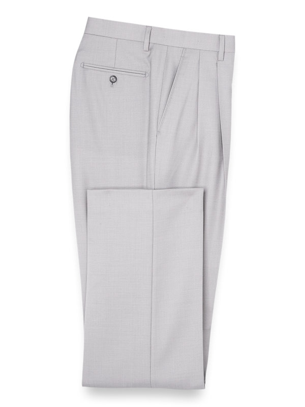 Sharkskin Pleated Suit Pant