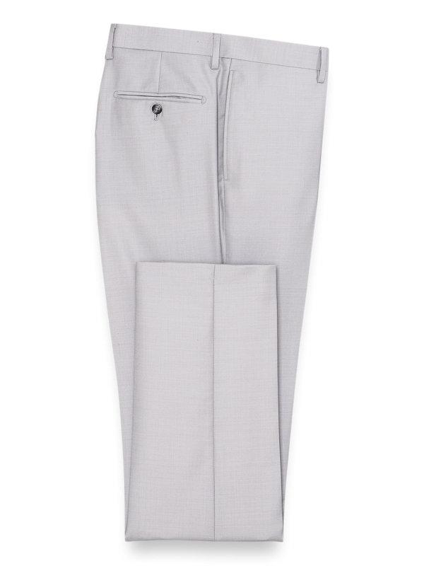 Sharkskin Flat Front Suit Pant