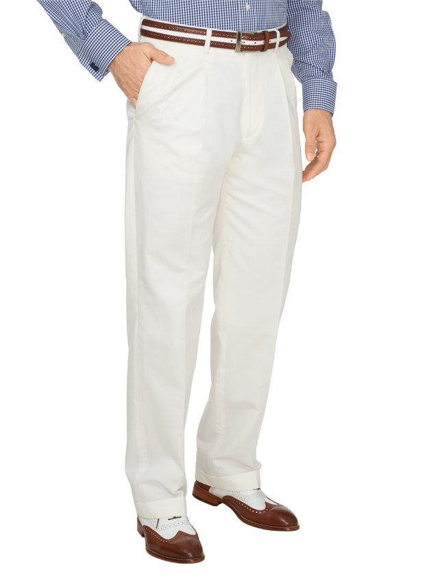 Cotton & Linen Twill Pleated Suit Pants