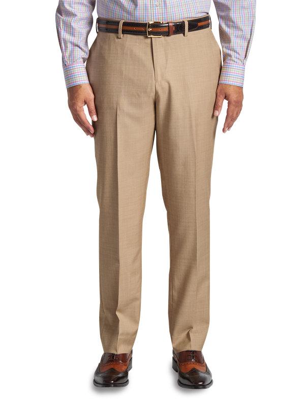 Classic Fit Sharkskin Flat Suit Pant