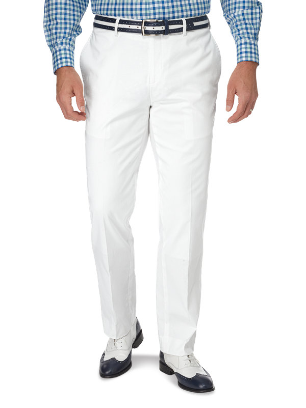 Classic Fit Cotton Pincord Flat Front Pant