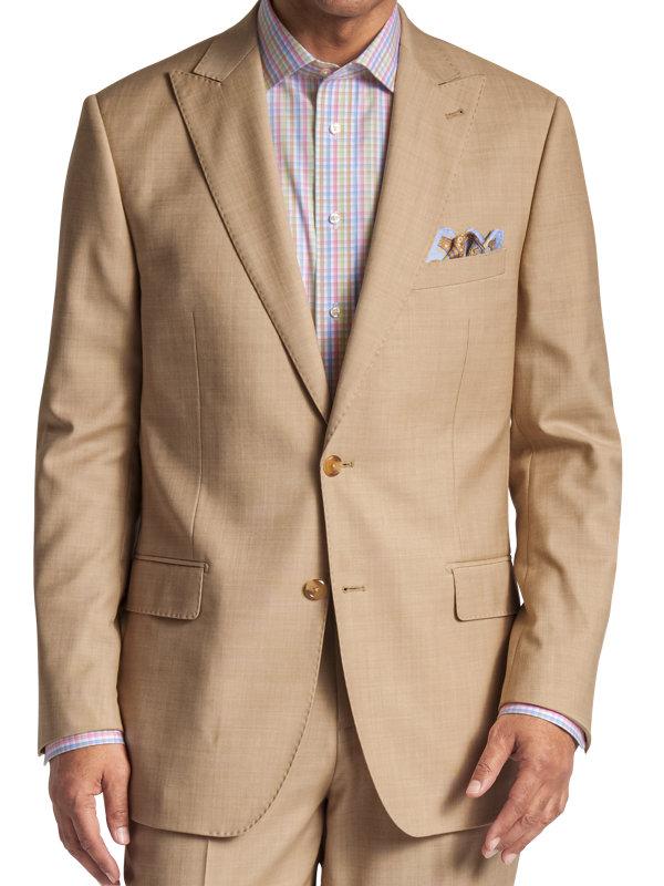 Classic Fit Sharkskin Peak Lapel Suit Jacket