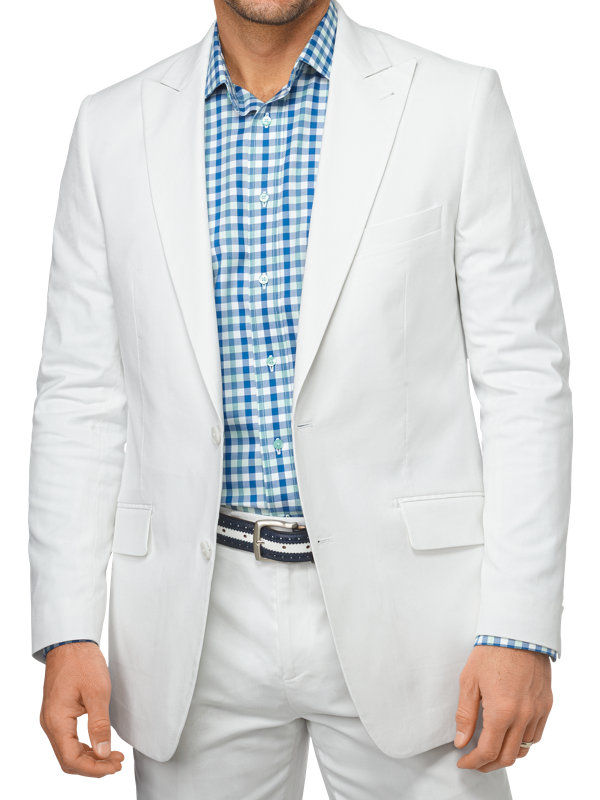 Classic Fit Cotton Pincord Peak Lapel Suit Jacket