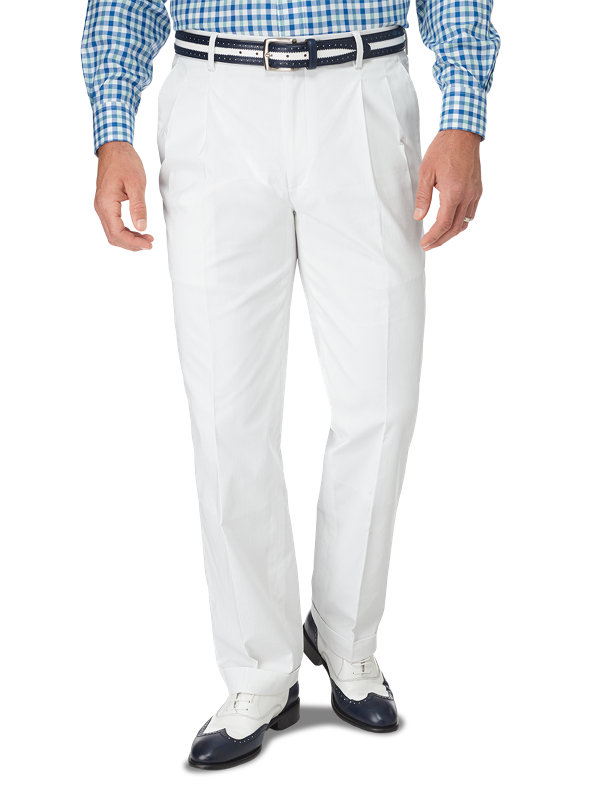 Classic Fit Cotton Pincord Pleated Suit Pant