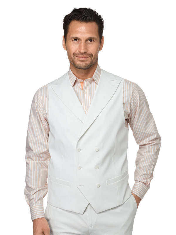 Cotton Pincord Double Breasted Suit Vest