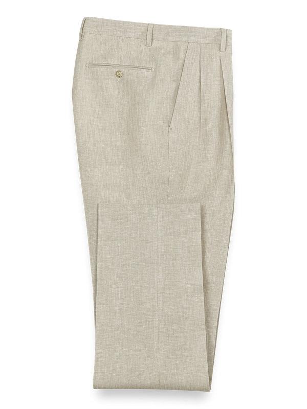 Linen Solid Pleated Suit Pant