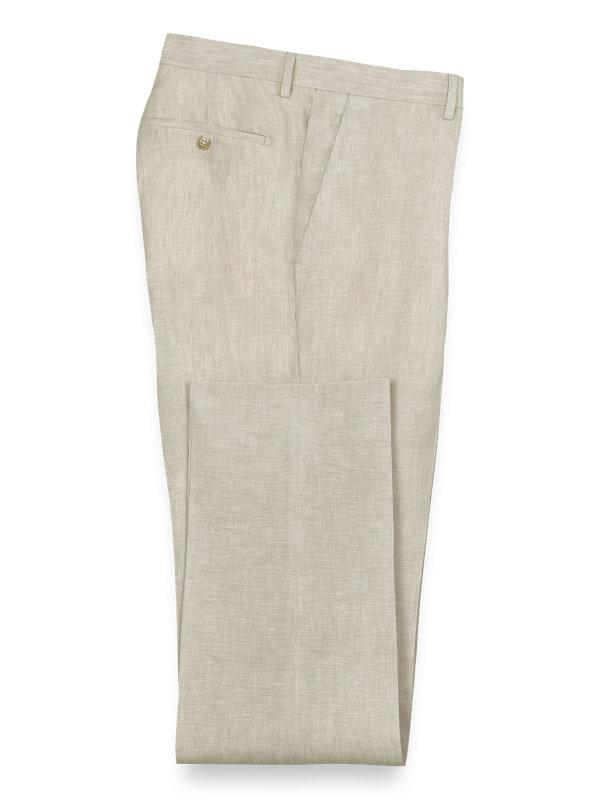 Linen Flat Front Suit Pant