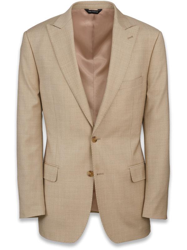 Sharkskin Peak Lapel Suit Jacket