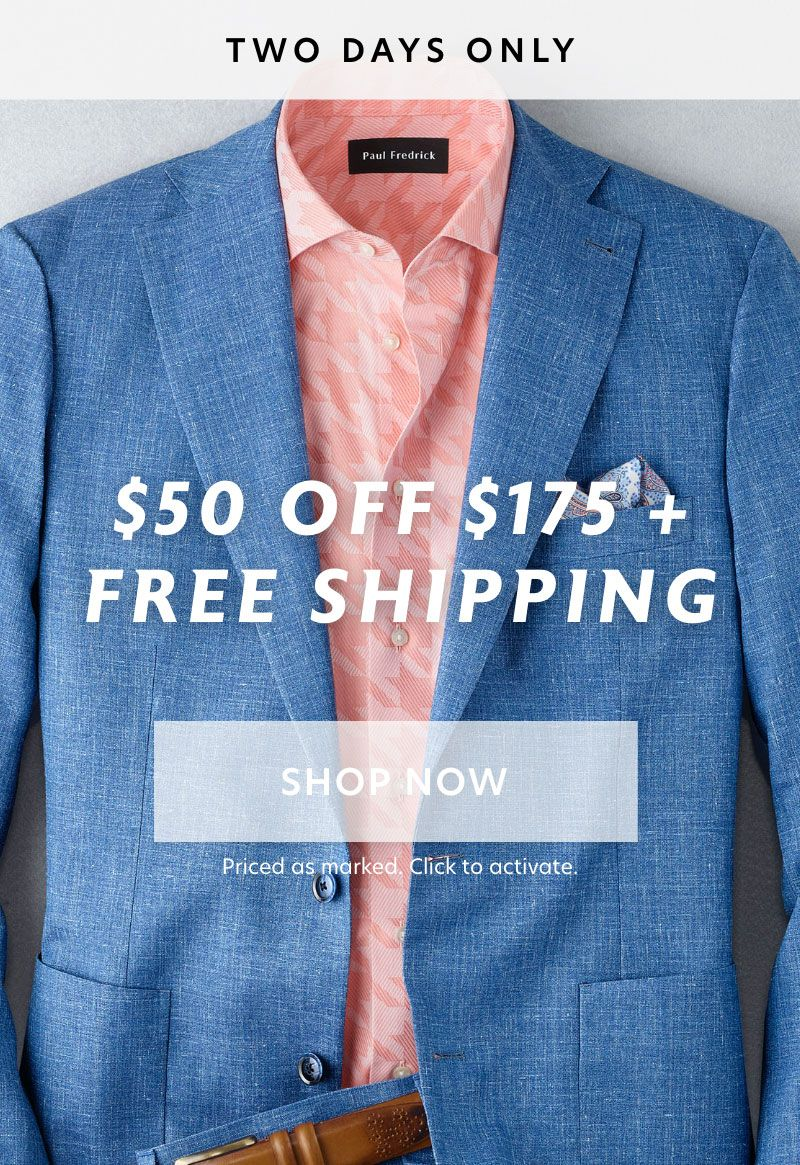 2 Day $50 Off $175