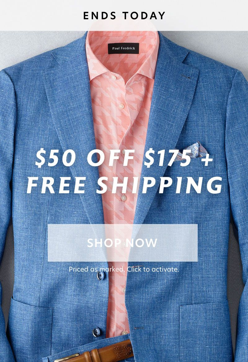 Ends Today: 2 Day $50 Off $175