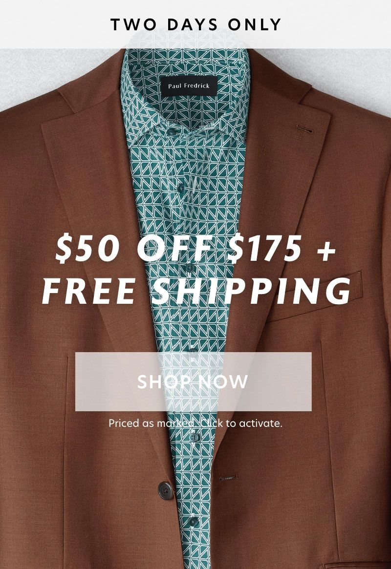 Spend $175, get $50 off + FREE shipping. Plus, up to 30% off the Spring collection.