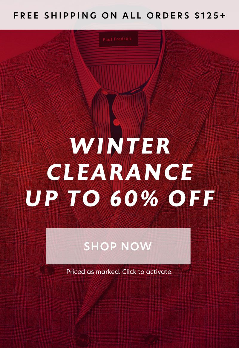 Winter Clearance: Up to 60% Off.
