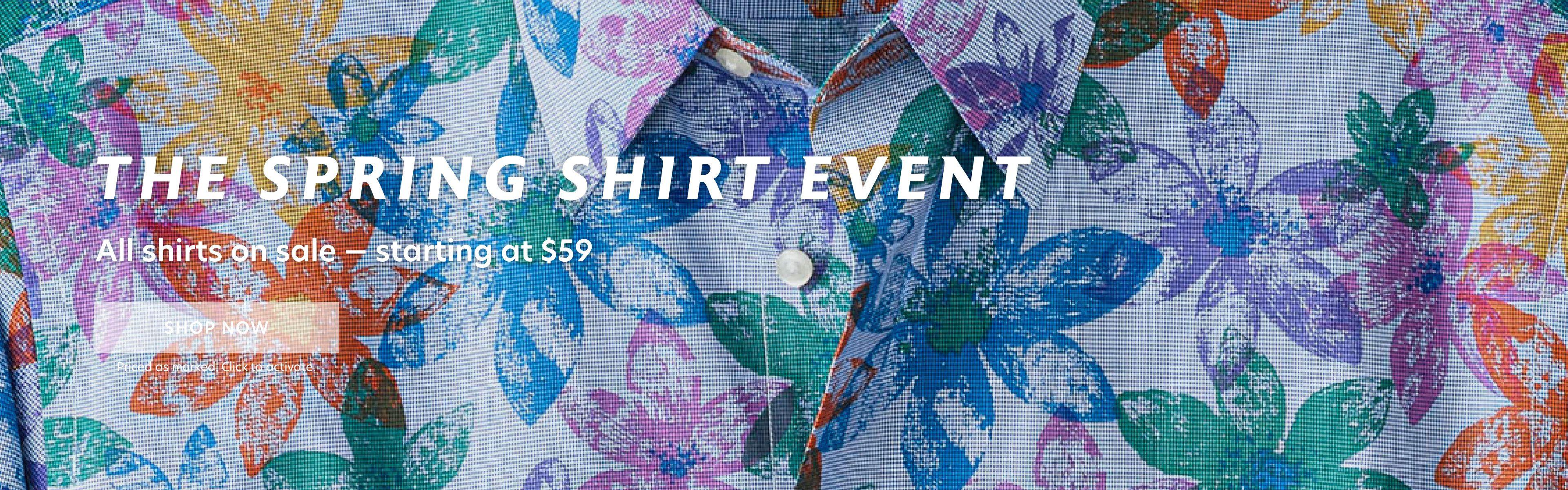 The Spring Shirt Event