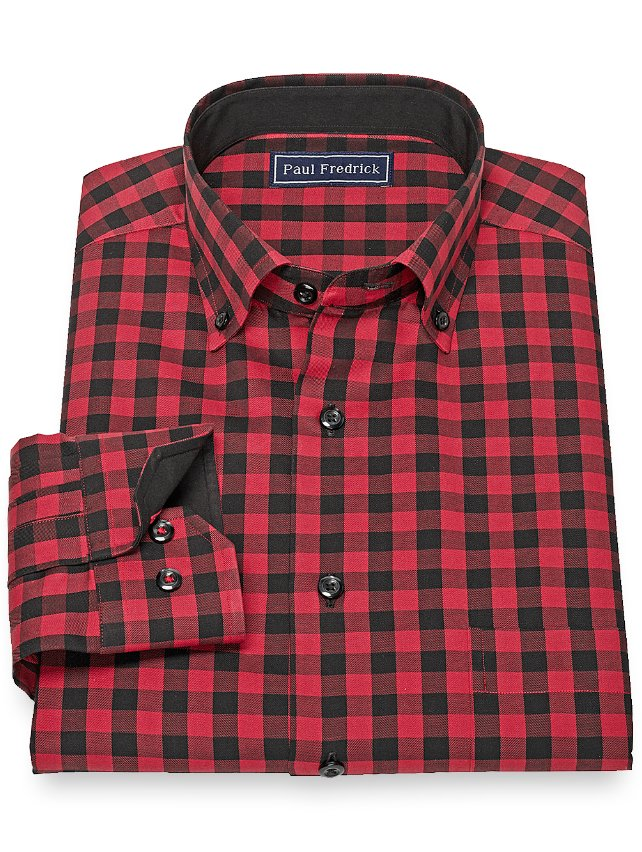 Slim Fit Cotton Check Casual Shirt