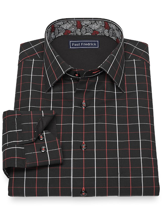 Cotton Windowpane Casual Shirt