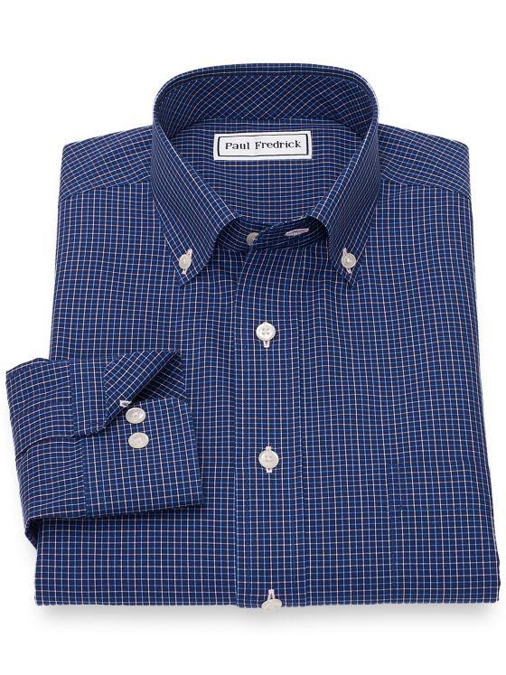 Non-Iron Cotton Tattersall Casual Shirt