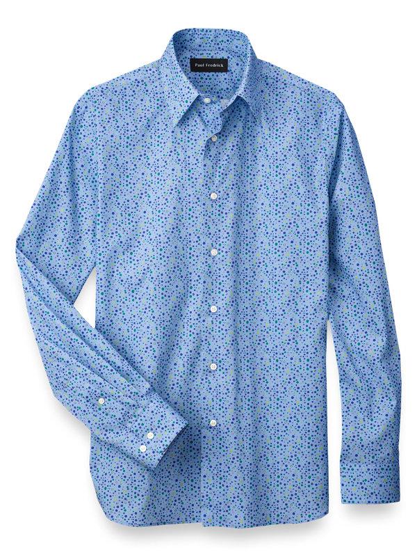 Cotton Dot Print Casual Shirt