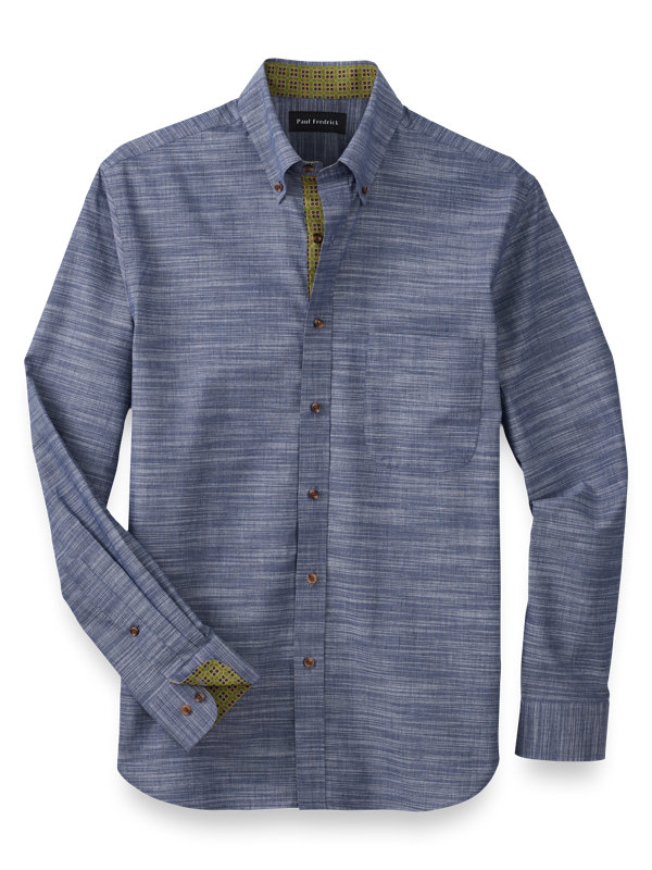 Slim Fit Cotton Textured Solid Casual Shirt