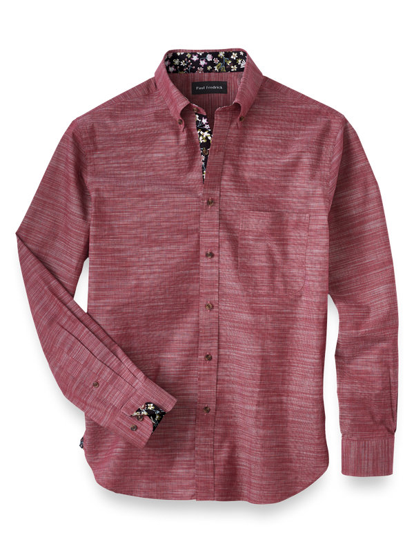 Cotton Textured Solid Casual Shirt