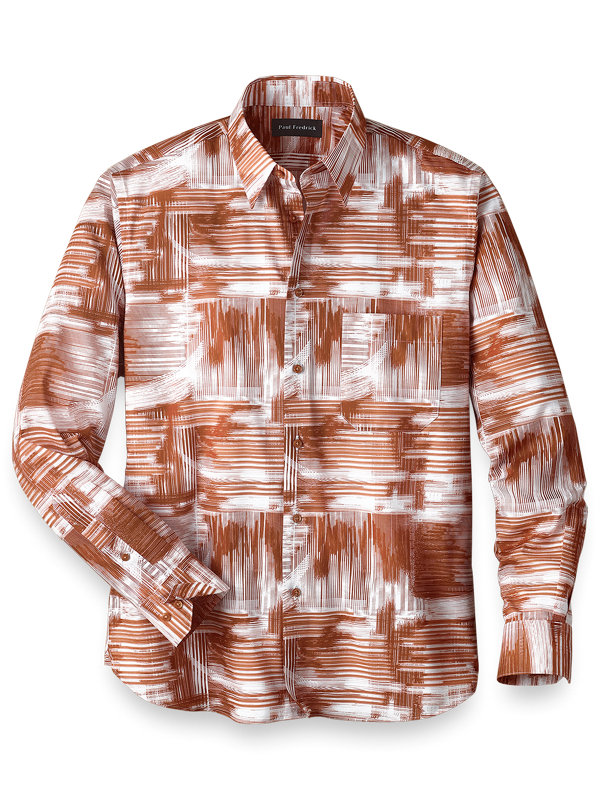 Easy Care Cotton Abstract Casual Shirt