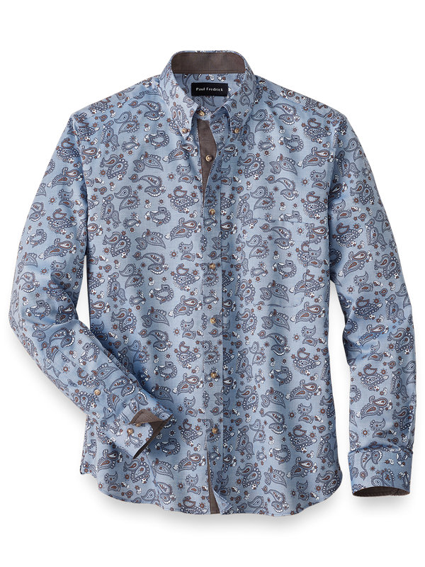 Easy Care Cotton Paisley Casual Shirt
