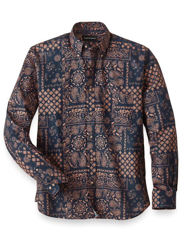 Slim Fit Easy Care Cotton Madras Casual Shirt