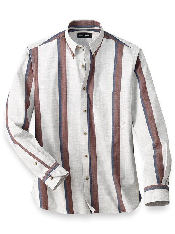 Easy Care Cotton Stripe Casual Shirt
