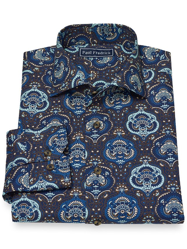 Cotton Medallion Print Casual Shirt