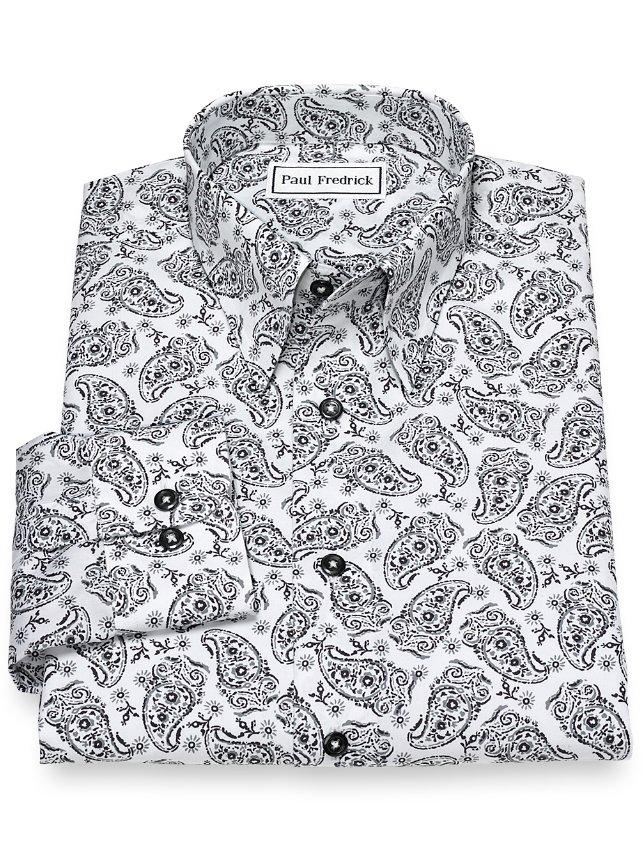 Non-Iron Cotton Paisley Casual Shirt