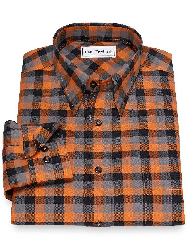 Non-Iron Cotton Check Casual Shirt
