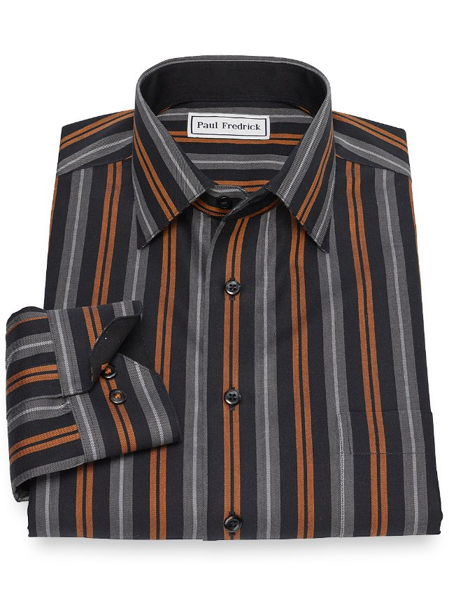Slim Fit Non-Iron Cotton Stripe Casual Shirt