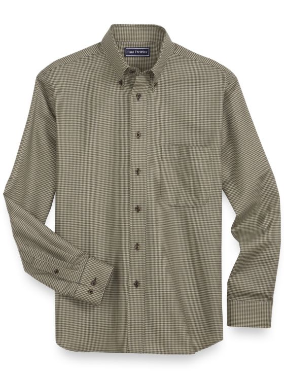 Cotton Houndstooth Casual Shirt
