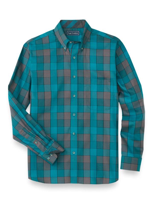 Easy Care Cotton Buffalo Plaid Casual Shirt