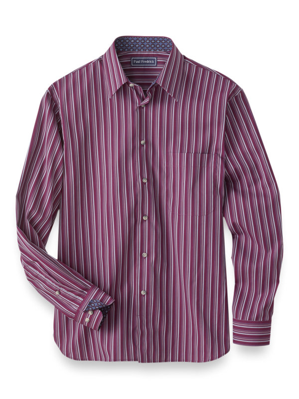 Easy Care Cotton Stripe Casual Shirt